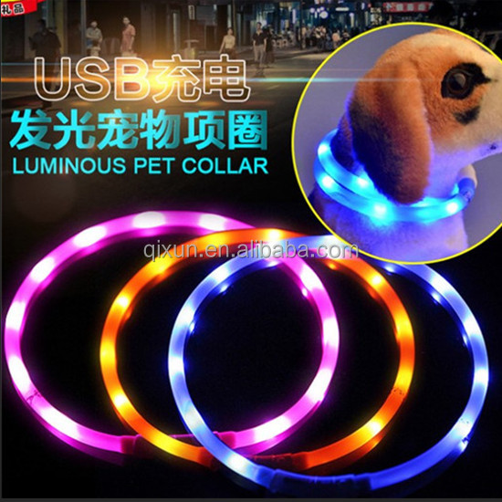 Paypal accept Waterproof USB rechargeable LED pet collar