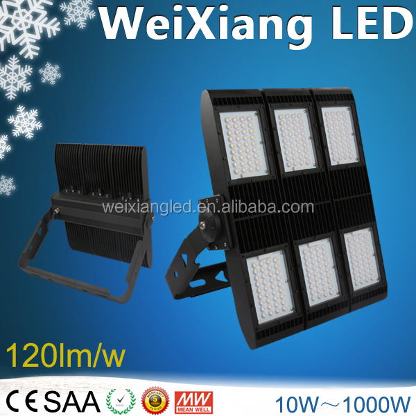 Shenzhen Weixiang Asymmetric LED Lens 150W 200W 300W 400W LED Flood Light With 10/30/60/60*135/85*135 Degree Beam Angel