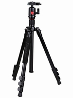 Flip lock camera tripod with ball head for Sony Canon camera
