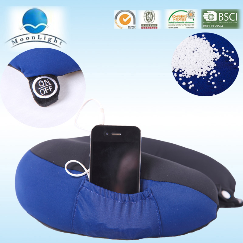 alibaba china hot sell massager travel pillow speakers