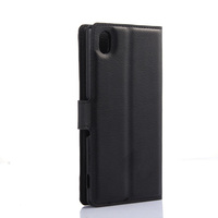 Factory pu leather flip cover case for sony e2303 m4 aqua