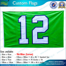 3x5ft Polyester Green And White Seattle 12 Flag