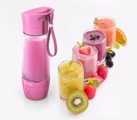 2016 Portable battery powered shaker bottle protein/juicer machine