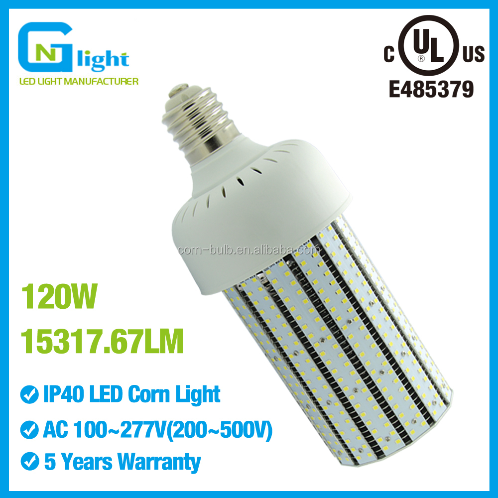 Enery saving led street corn light bulb UL listed 120W E39 base corn cob bulb light/lamp