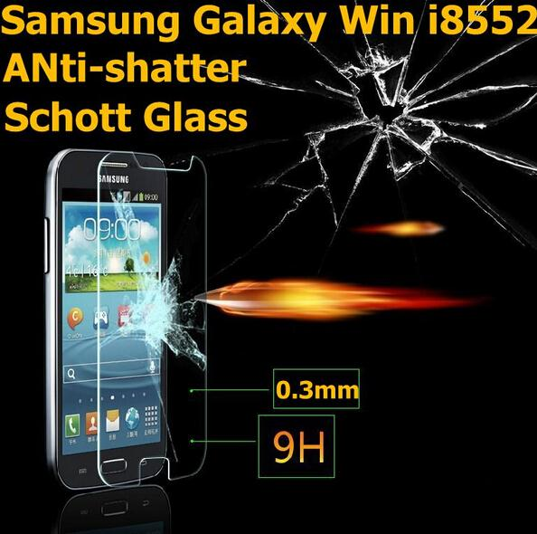 0.26mm Anti-Explosion Screen Protector Tempered Glass Film For Samsung Galaxy Win Duos GT i8552 8552 Screen Protective Films