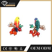 fashion enamel sweet girl cheap wholesale stud fish shape earrings