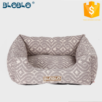 Kikiland hotsales grey printing decorative inflatable dog bed