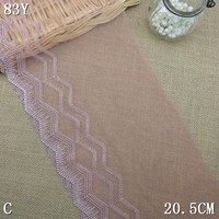 2015 new designed mesh transparent fancy lace embroidery for cheap wholesale