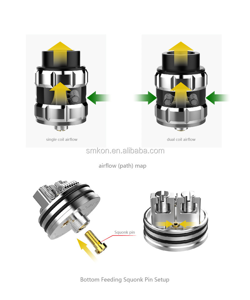 2018 popular AmpleVape Mace BF RDA with Single coil and dual coils