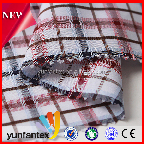 2018 Fashion softer cotton check shirt dobby plaid fabric
