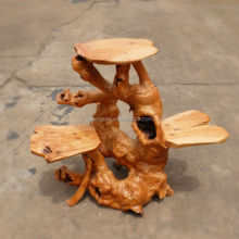 Handmade Natural Wooden Root Flower Stand