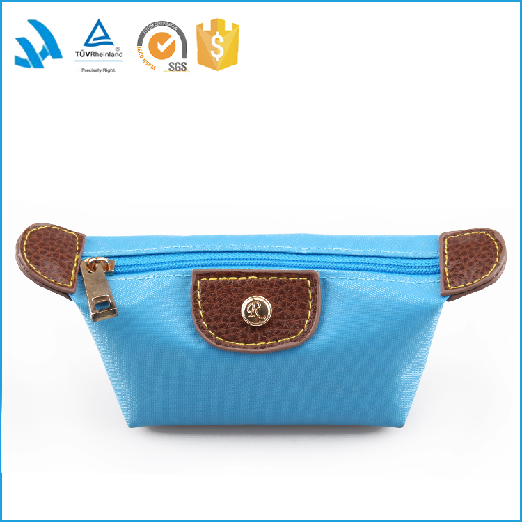 2017 fashion custom waterproof small cosmetic makeup bag wholesale