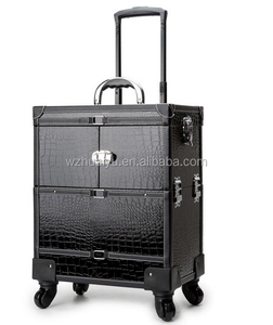 2018 Hot Sale Black Durable Professional Cosmetic Trolley
