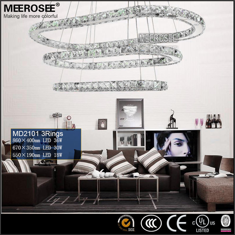 Oval Shape Ring Light LED Modern Lighting Crystal LED Ring Light MD2101-3R