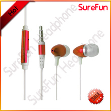 High definition powered isolation stereo metal bullet earphone earbuds