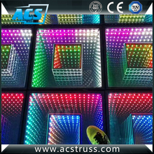 ACS 84pcs 3D colorful magic mirror led Dance Floor-for DJ/Party/Event/Light up video interactive led dance floor/3d led dance