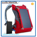 6V/6W Red 420D Jacquard Solar Hiking Backpack