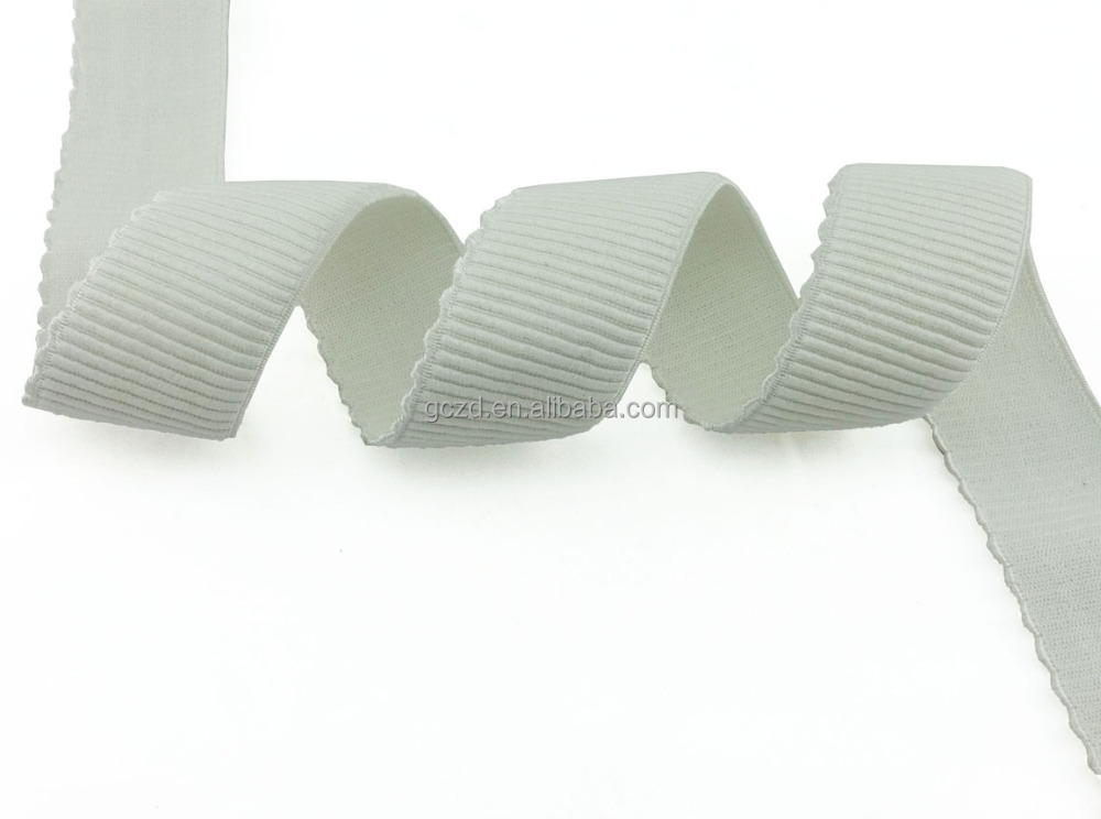 Cresent Edit White Fabric Band 45mm Nylon Jacquard Elastic Ribbon Garment's Accessory Banner Wholesales