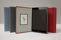 hardcover hinge book style leather case for ipad mini
