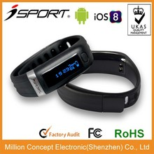 iOS and Android Waterproof fitness pedometer and sleep tracker power balance sport health wristband