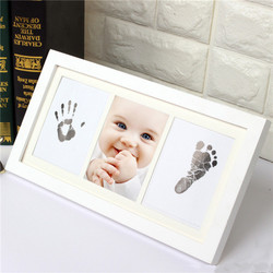 Unilove lovely Baby Handprint Kit Footprint Frame Clay pictures frame