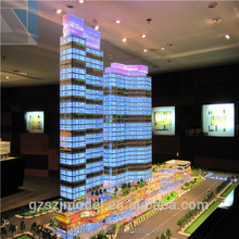 3d building model with led light/miniature architecture model/commercial scale model maker