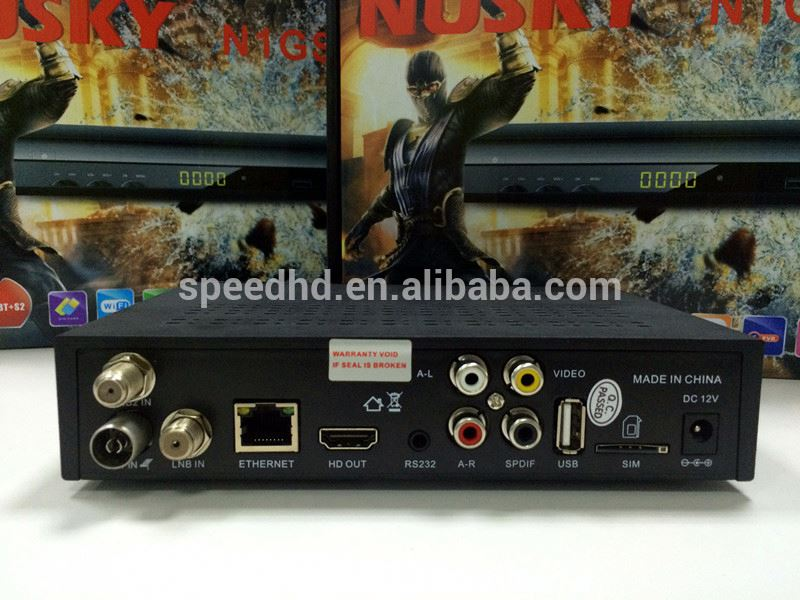 2016 new model COMBO dvb s2+t2 digital satellite receiver/decoder with auto roll powervu