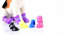 Lovely Colorful Antiskid Silicone Dog Shoe, Waterproof Rainshoes for Dog