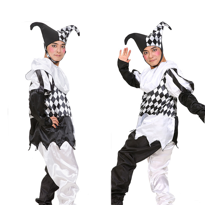 Halloween Costumes Adult Funny Clown Costume Couple Cosplay Clothing