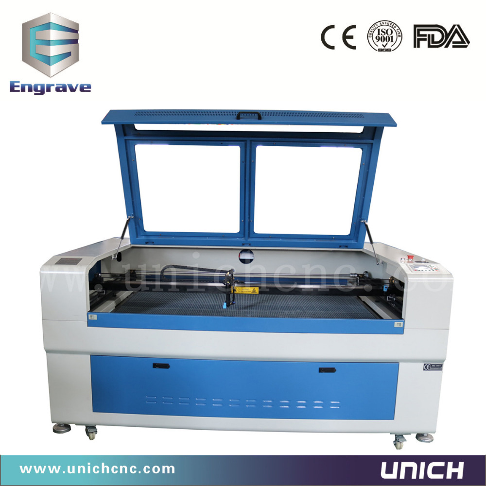 CE standard Unich laser wood cutting machine/mini co2 laser machine price/cnc laser1610/laser engraving service
