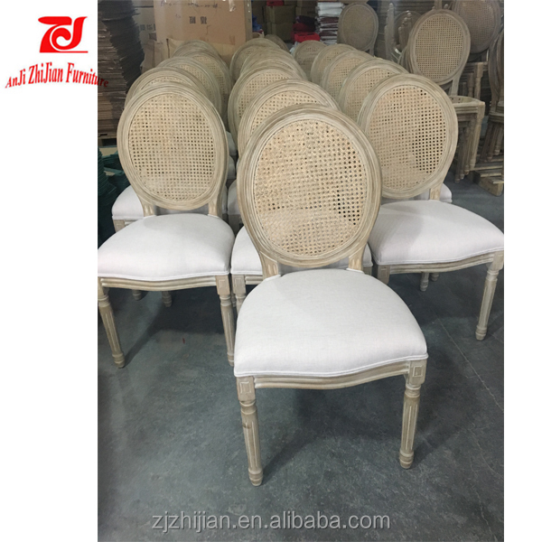 Antique Reproduction Rattan Back Dining Chairs Antique Louis Ghost Chair ZJF42c