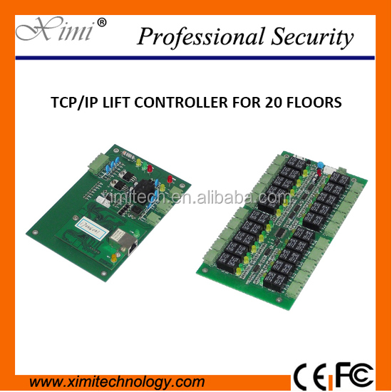 Tcp/Ip 40 Floors Biometric Fingerprint And Rfid Lift Elevator Control 2 Door Access Control Board System