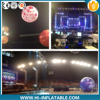 2015 Hot sale inflatable planets decoration for stage decoration, Sun, Mars, Saturn solar system nine planets