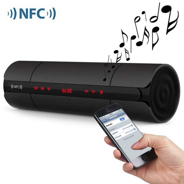Portable KR8800 NFC FM HIFI Bluetooth Speaker Wireless Stereo Loudspeakers Super Bass Caixa Se Som Sound Box Hand Free for Phone