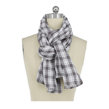 Guangzhou Direct Factory Cotton Check Double-Layer Scarf