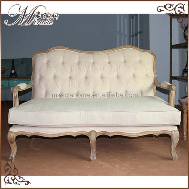 Antique two seat chesterfield sofa set wood sofa