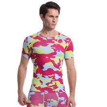 Camouflage wear sport wear gym clothes tight flexible clothes fitness wear