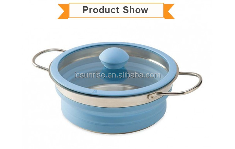 Collapsible Cooking Pot With Stainless Steel Bottom