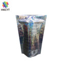 Chinese Factory OEM Holographic Aluminum Foil Stand Up Zip Lock Plastic Packaging Bags