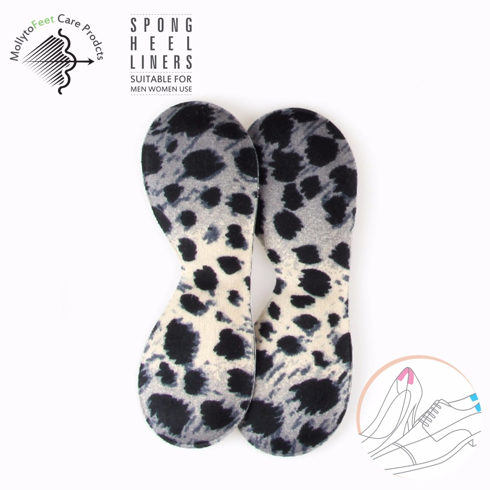 Fashion Leopard print self-adhesive Foam heel liner for high heel shoes