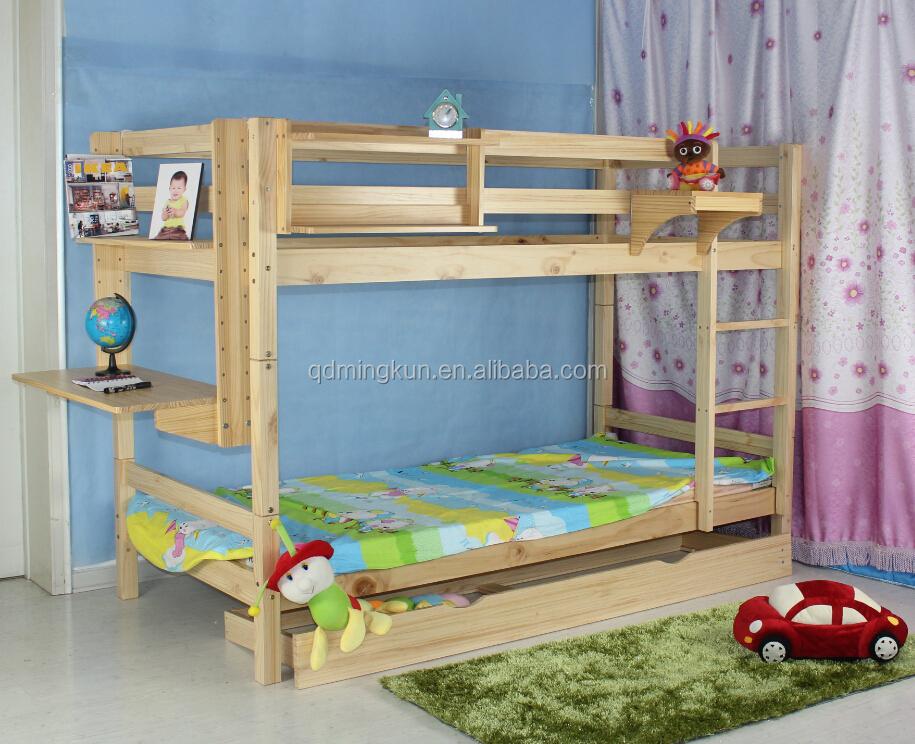 Pine wood bunk bed buy pine wood double decker bed kid 39 s for Double decker toddler beds