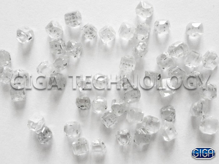 synthetic white diamonds hpht single crystal rough diamond