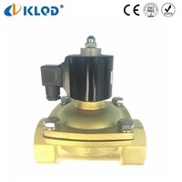 Direct Acting Brass Body Air Water Oil Flow Control IP65 2 Inch Water Solenoid Valve
