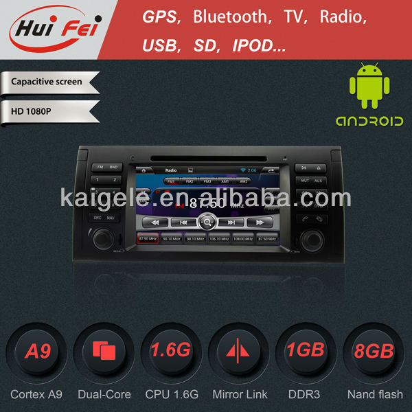 1Din Car DVD Player for BMW E53 E39 with Pure Android4.2.2 3G WIFI BT IPOD MP3 MP4 DVD VCD CD