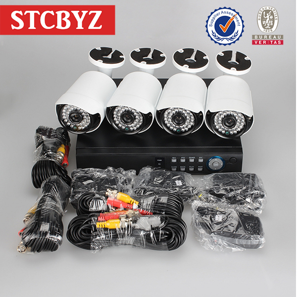 High resolution security ahd dvr camera system kit 1080p