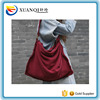 Women thick Canvas red shoulder bag personality ladies casual big capacity message bags women's cotton fabric bags