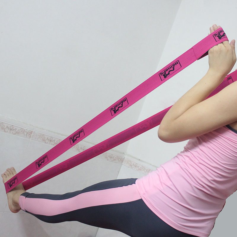 China high quality woven yoga strap, yoga elastic band, yoga stretch strap with customized logo
