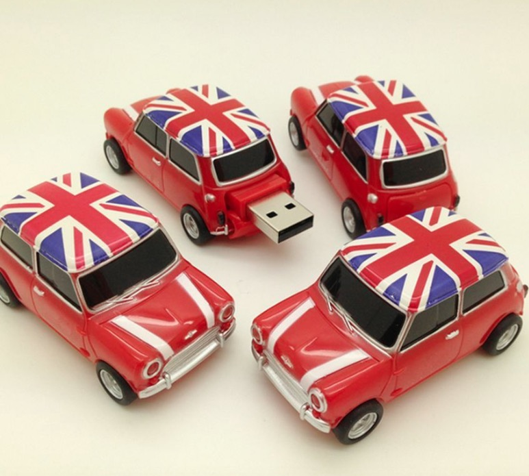 16GB Car USB 2.0 Flash Drive Mini Cooper Memory USB stick Pendrive Fashion 2017