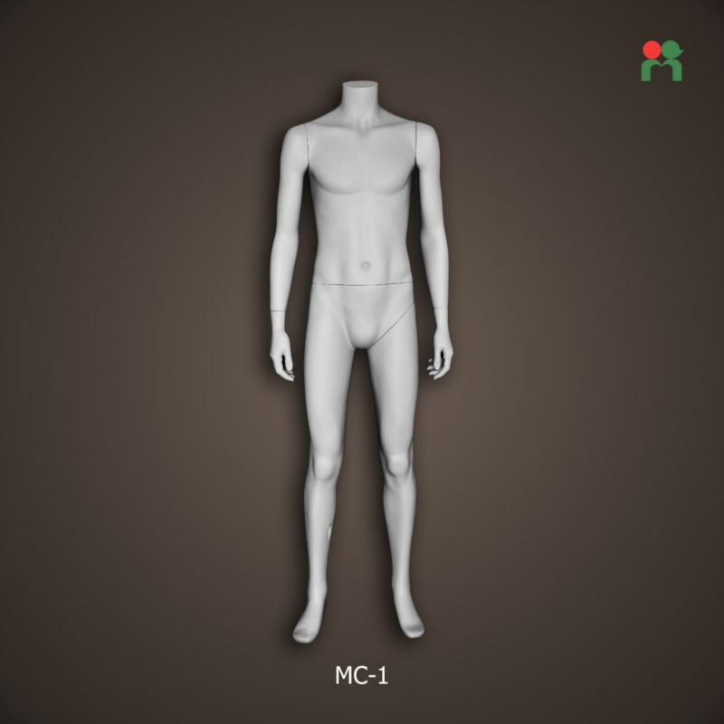 Fashion biberglass headless male mannequin male for display silver color dolls for adults MC-1