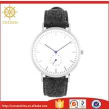 Popular Style Simple Design Wrist Watch Unisex Watch With Tweed Strap